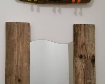 Wall coat rack with 3 hooks colorful and original Driftwood