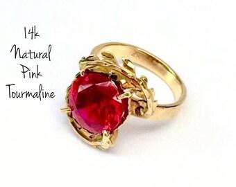 14k Pink Tourmaline Ring (3.20ct)         SALE