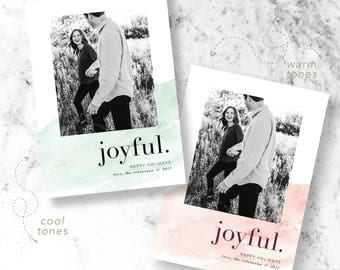 Splash of Color Holiday Photo Cards