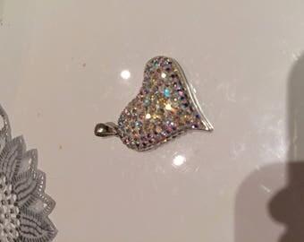 Silver Pendant 925 thousandth 28 * 25 swarovsky Crystal