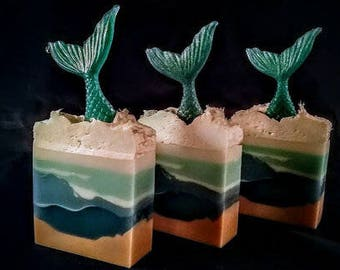 Mermaid Tail All Natural Detergent Free Handmade Goat Milk Soap