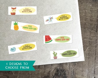 117 Handle With Care Stickers / Business Labels / Stickers for Envelopes / Fragile Stickers / Business Stationery