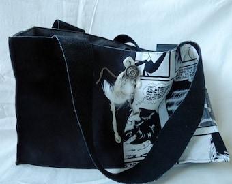 Cartoon black shoulder bag