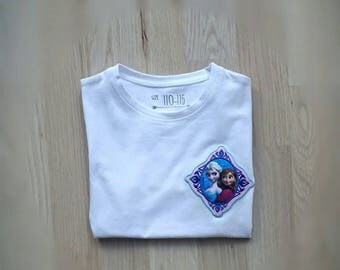 Tee shirt 5-6 years of the snow Queen