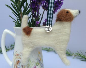 Jack Russell Gift - Gift for Dog Lover - Gift for Teacher - Needle Felted Dog - Thank You Gift - Handmade Terrier