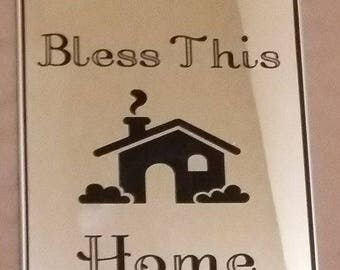 Bless This Home Mirror