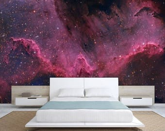 Galaxy wall mural, ceiling wallpaper, nebula wall mural, ceiling wallpaper, peel and stick, space star wall mural, ceiling wall mural