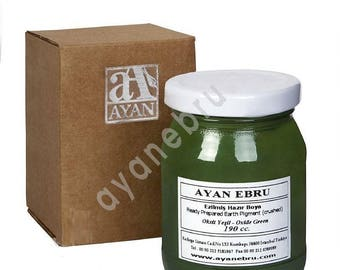 Ebru Marbling Paint Colors-Oxide Green (Ayan)