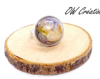 Wild Orchid frozen in resin ring