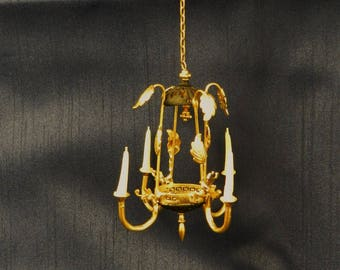 "Artisan Made 1:12 Scale Dollhouse Chandelier ""Luna"""""