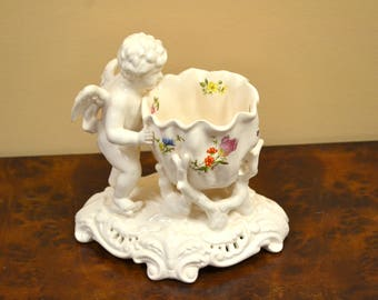 Cherub Candle Holder-Ceramic Angel