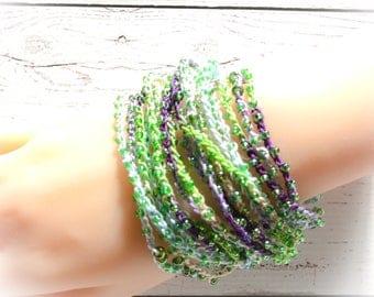 Multi strand bracelets,ankle bracelet,Hand beaded crochet bracelets, crochet bracelets,african ethnic bracelets,gypsy jewelry,boho bracelet