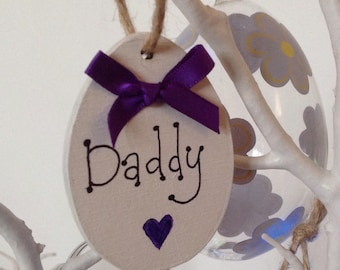 Personalised Easter egg decoration for easter trees