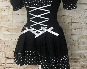 Gothic burlesque style dress