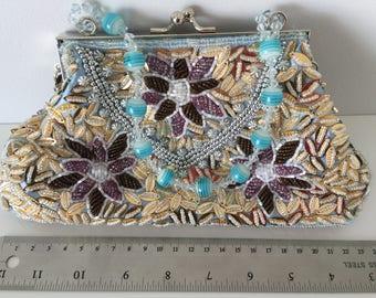 Vintage beaded bag 1980's, 80's