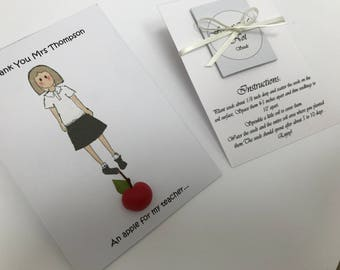 Personalised Thank you Teacher/Support worker 'Forget-Me-Not' gift. Male/ Female teacher. End of term gift. Best teacher. Leaving gift.