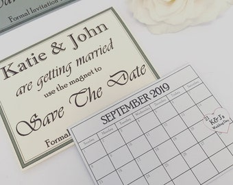 Personalised Magnetic Save The Dates. Wedding Day. Personalised gift. Wedding ideas. Bride and Groom. Invitations. Party. Wedding favours