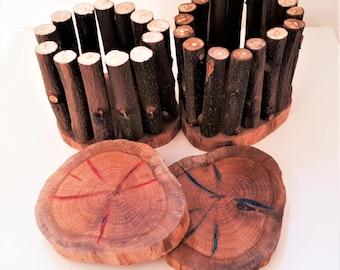Handmade Wooden Penholder / Home Decor / Desk Organizer / Office Decor / Tree Branches