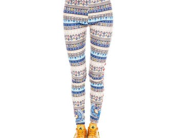 Egyptian Scarab Patterned Leggings