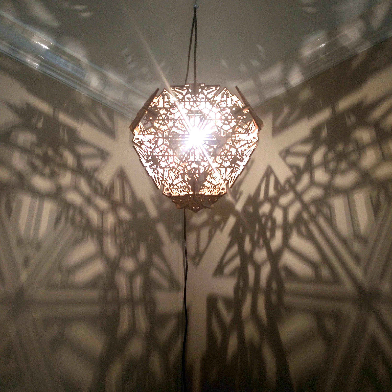 Truncated Tetrahedron Hanging Ceiling Pendant Shadow Lamp