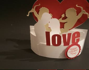 3D Cards - Valentine Card - Love Card - Pop Up Card - 3D Valentine Card - I Love You Card - Proposal