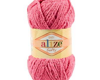 10 x 50 g soft yarn fluffy wool SOFTY by ALIZE No. 33 pink