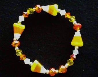 Candy Corn Halloween bracelet