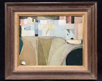 "LEONARDO CREMONINI (Italian/French, 1925-2010), ""Landscape"", 1961, oil on canvas board, signed and dated."