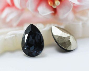 Swarovski 4320 14mm Fancy Stone Crystal in Graphite (253)