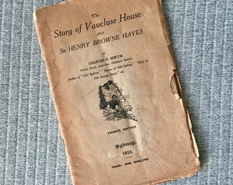 The Story of Vaucluse House and Sir Henry Browne Hayes 1920s Sydney Australian History Fourth Edition Book Australiana Early Australia