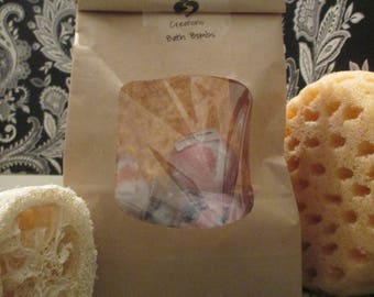 Mini Bath Bombs Sampler Set of 5, Choose Your Own Scents, Mini Bath Fizzies