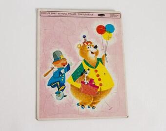 vintage 1960s circus puzzle