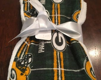 NFL Green Bay Packers baby burp cloth/burp rag