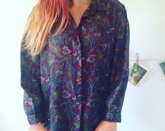 Vintage Floral Blouse shirt