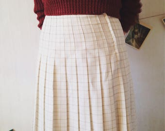Vintage Pleated white skirt 38/M size