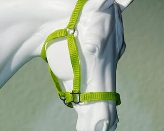Cm Breyer/Model Horse Halter - Lime Green - Classic or Traditional
