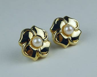 14k Gold akoya pearl earrings #10071