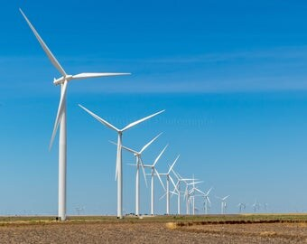 West Texas Wind Turbines  Fine Art Print