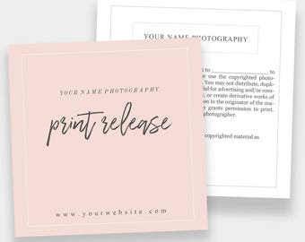 Print Release Form 5x5   Forms for Photographers