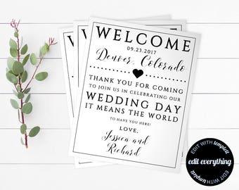 Printable Wedding Welcome Bag Tags - Wedding Favor Tags - Destination Wedding - Wedding Tags - Welcome Gift Tag - Wedding Bag Tags
