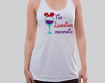 The Lushing Mermaid Disney Tank Top / Disney Tank Top / Disneyland Trip / Disneyland Shirts