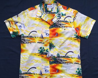 Vintage Rai Nani hawaiian shirt-surfer-Aloha shirt