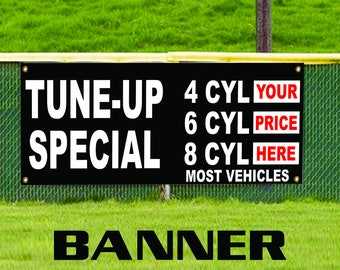 Tune-up Special Most Vehicle Advertising Vinyl Banner Sign Auto Car Service Repair