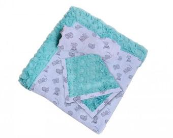 Patty Cakes Swaddle Gift Set Kit Butter Mints,  100% Polyester, Minky Kits, Minky Cuddle Kits, Shannon Kits