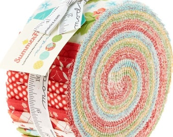 Summerfest Jelly Roll by April Rosenthal for Moda Fabrics - Summerfest Jelly Roll - April Rosenthal Jelly Roll - Moda Fabrics Jelly Roll