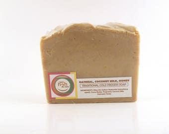 Cold Process Soap, Vegan Soap, Oatmeal Coconut Milk and Honey, Bastille Soap, All Natural Soap, Cruelty Free Soap