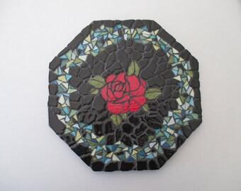 """""""Rose"""" tile trivet"""