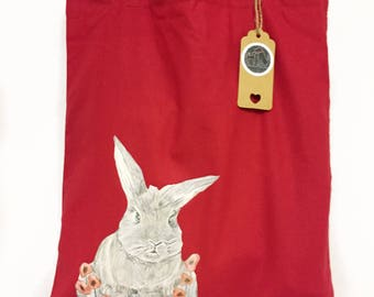 Quirky messenger bag etsy bunny rabbit bag cute bunny gift easter gifts colourful rabbit print quirky negle Image collections