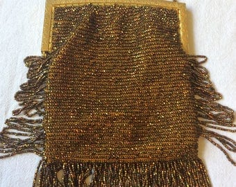 Turn of the century authentic beaded evening bag