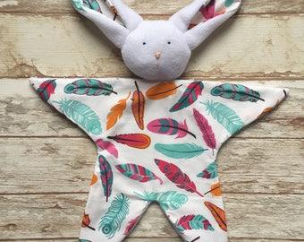 Doudou baby blankie comforter bunny Rabbit pattern cactus